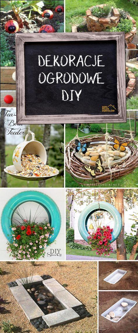 10 Pomyslow Upiekszajacych Ogrod Ktore Wykonasz Samodzielnie Tea Diy Diy Flower Garden