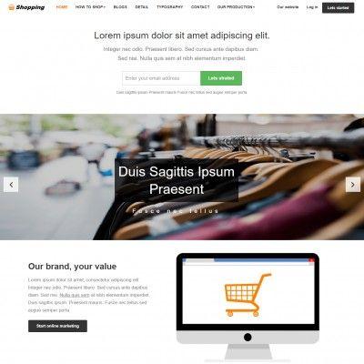 Home shoppe free #responsive #html5 #css3 #mobileweb template.