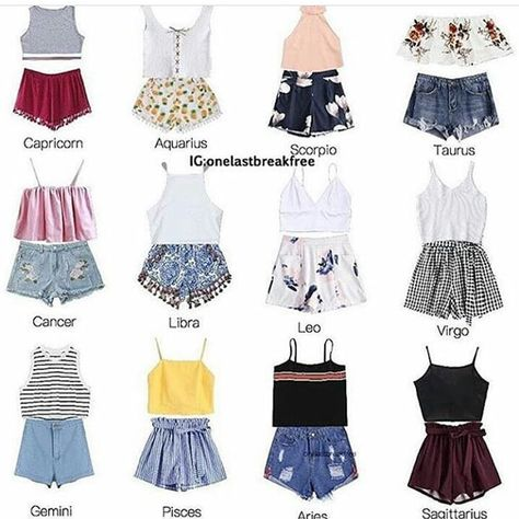 Horoscopes as outfits