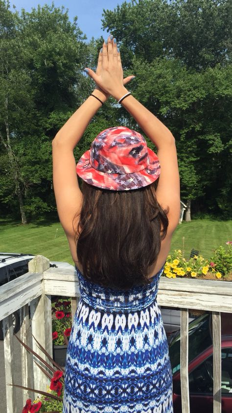 Red White and Bucket Hats Alpha Phi UConn  757e20617e9