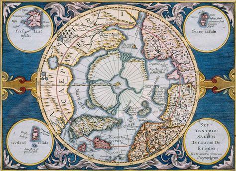 Pohjoisen Napa Alueen Kartta Gerard Mercator 1630 Juha Nurminen