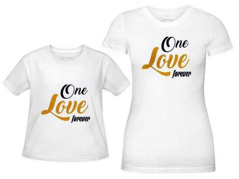 Koszulki Dla Mamy I Córki Lub Mamy I Syna One Love Forever