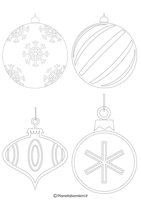 Disegni Di Palline Di Natale.24 Disegni Di Palline Di Natale Da Stampare E Colorare Scuola