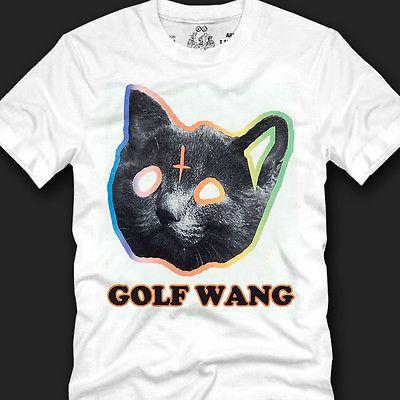 867750bc83a239 OFWGKTA GOLF WANG ODD FUTURE TYLER THE CREATOR CAT T-shirt 100%Cotton Size  S~XXL