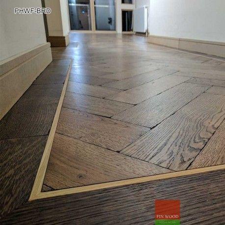 Parquet Herringbone Wood Flooring With Border In 2020