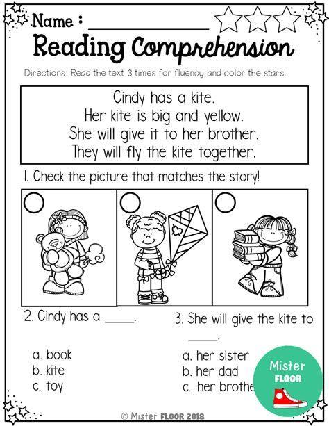 Comprehension Worksheets For Kindergarten Kindergarten In 2021 Reading Comprehension Kindergarten Reading Comprehension Kindergarten Reading Spring comprehension worksheets