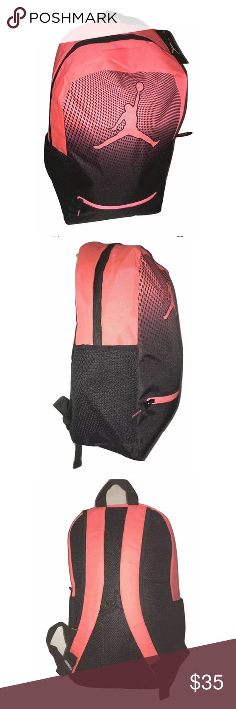 86d681a39f16 Nike Air Jordan Youth Backpack Large Capacity Nike Air Jordan Jumpman Youth Backpack  Laptop Storage Inside NEW Rounded athletic stlying and full ...