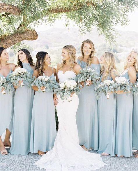 blue wedding Silver Sage Bridesmaid Dresses blue bridesmaid dress for pretty wedding