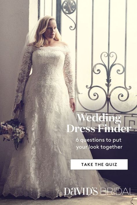 At David S Bridal We Re Here To Help You Discover The Perfect Gown For You Take The Wedding Dres Wedding Dress Finder Wedding Dress Quiz Online Wedding Dress
