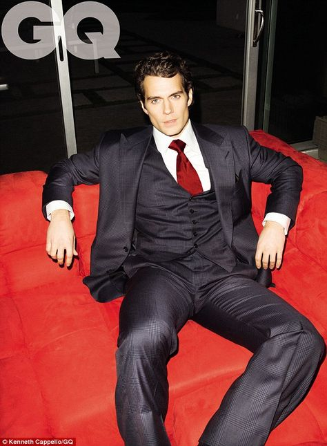 Henry Cavill in a three-piece suit