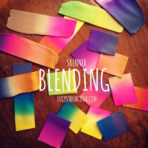 Polymer Clay Skinner blending by Lucy Struncova