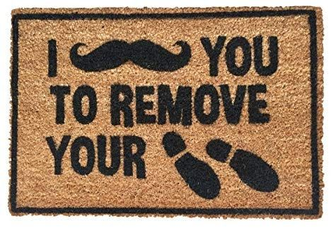 Amazon Com Funny Doormat Outdoor Welcome Mat I Moustache You