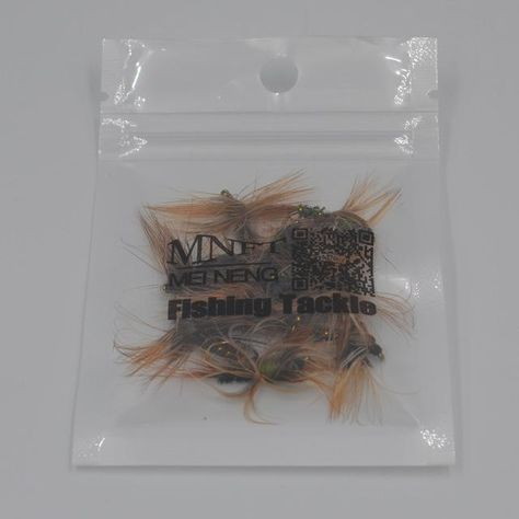 MNFT 10PCS/LOT 8# BROWN HACKLE GOLDEN HERL RIB DARK PEACOCK NYMPH BAIT TROUT FLY FISHING FLIES & LURES