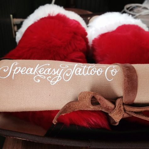 Speakeasy kits, pictured here, are great for tools, grooming products, knitting needles, pens, pencils etc. Available at the Speakeasy Tattoo shop or email speakeasytattooco@gmail.com. $35 plus shipping.