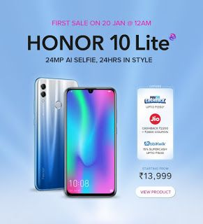 Honor 10 Lite price revealed on Flipkart they priced at Rs 13,999