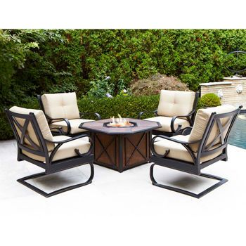 gold coast 5 piece fire pit set costco backyard ideas