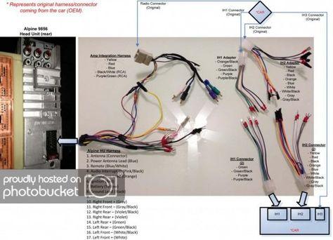 alpine cda 9847 wiring diagram di 2020  pinterest