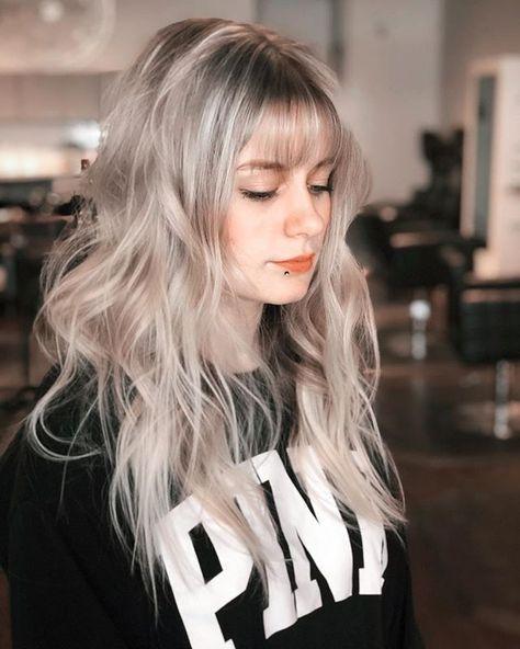 Platinum!!!! @tracey.does.hair . . . . . #hair #hairextensions #theoriginals #okchairsalon #okcsalon #blonde #bangs #bangstyle