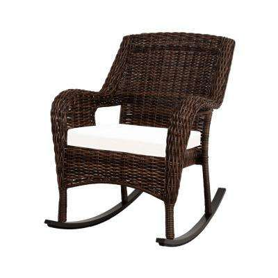 Cambridge Brown Wicker Outdoor Rocking Chair With Cushions Included Choose Your Own Color Outdoor Wicker Rocking Chairs Outdoor Rocking Chairs Rocking Chair