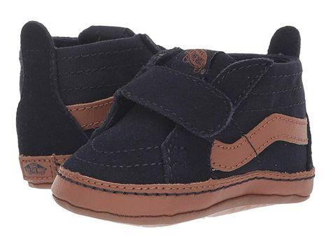 4d73095e5f2 Vans Kids SK8-Hi Crib (Infant Toddler) Boys Shoes (Suede) Sky Captain Gum
