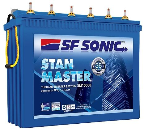 Sf Sonic Inv Battery Stan Master Sm10000 Car Battery Battery India Book