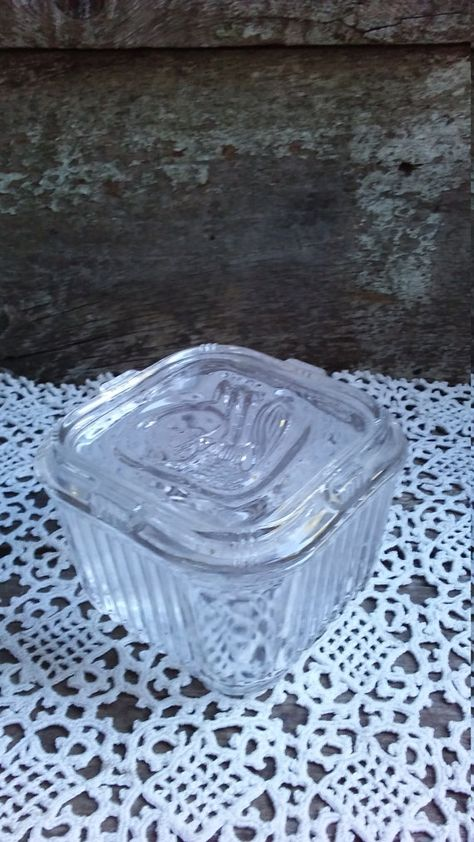 Federal Glass Refrigerator Covered Dish by CottonCreekCottage