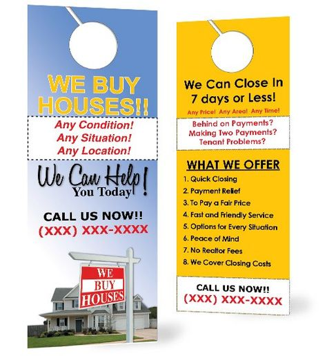 Real Estate Investor Tool Box - Door Hanger V1A, $18100 (  - banking and financial door hanger template