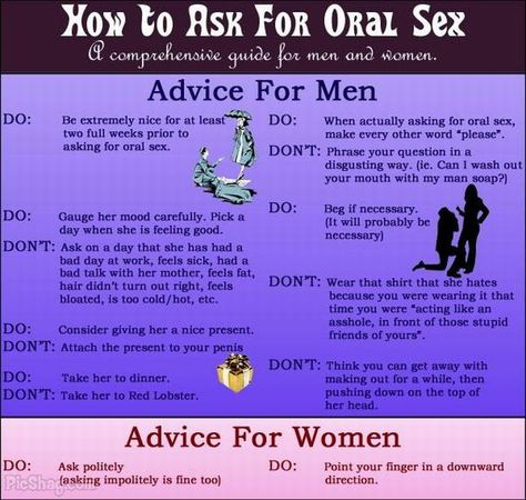 Guide for men and women: how to ask for oral sex