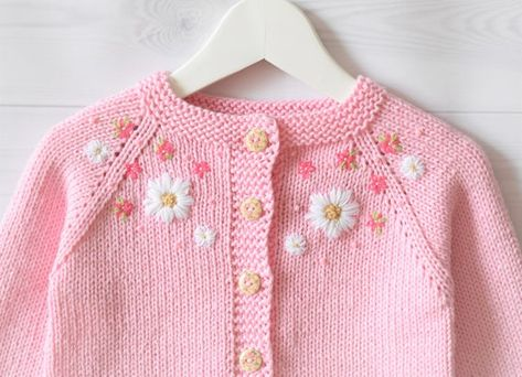 Baby pink cotton sweater summer cardigan baby girl sweater | Etsy