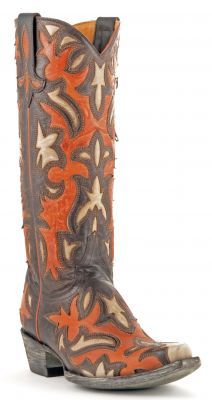 Womens Old Gringo Lylah Cowboy Boots Chocolate And Mango