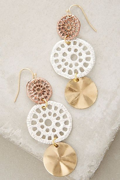 Add a statement to your look with earrings from Anthropologie. Discover our collection of unique hoop, drop, chandelier, cluster and post earrings for women.