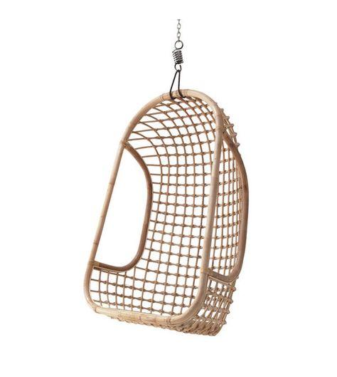 Rotan Hangstoel Bruin.Hangstoel Licht Naturel Bruin Rotan 55x72x110cm In 2020 Hangende