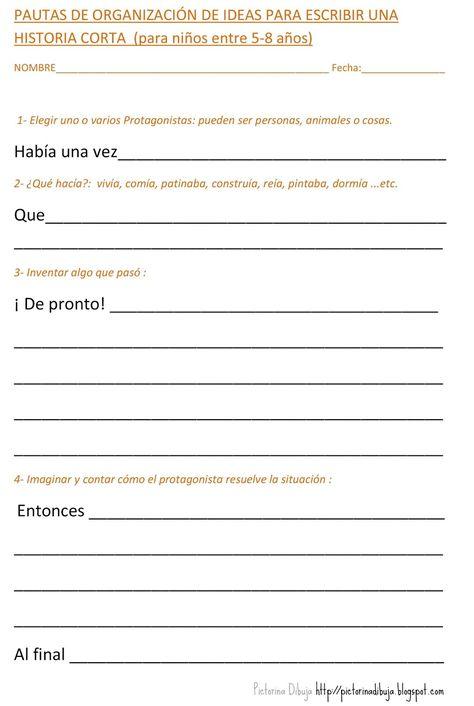 Tea Apoyos Visuales Organización De Ideas Para Escribir Una Historia Corta Orientacion Andujar Historias Cortas Para Niños Escribir Apuntes De Lengua