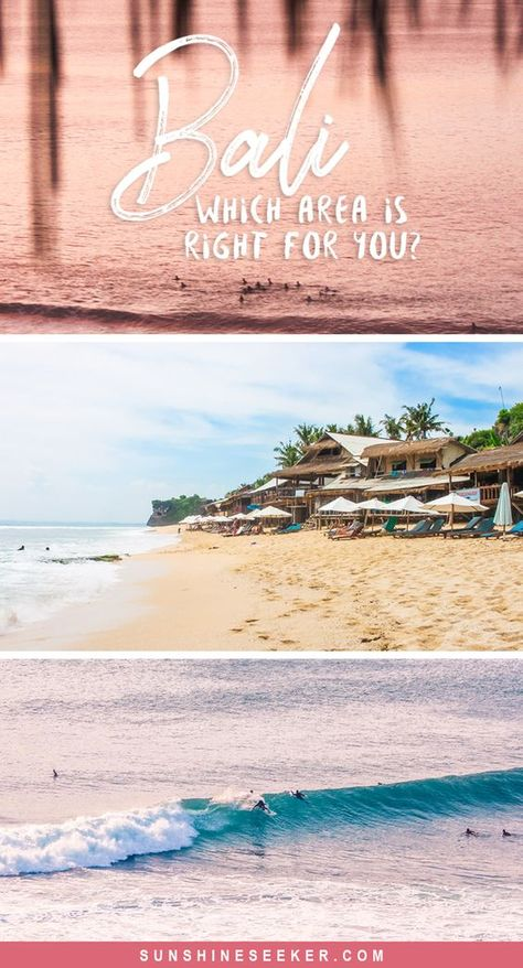Bali, Indonesia - Overview of the island. Which area should you choose for your holiday? Ubud, Canggu, Seminyak, Uluwatu, Bingin