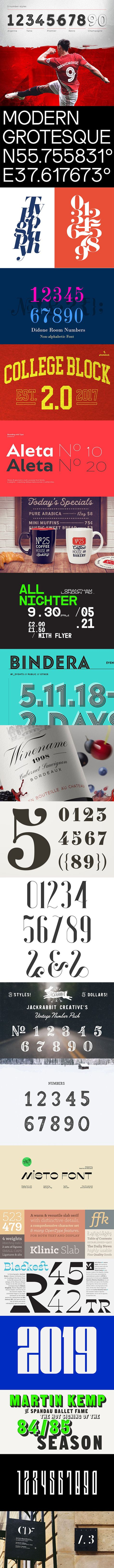 21 Awesome Fonts for Number