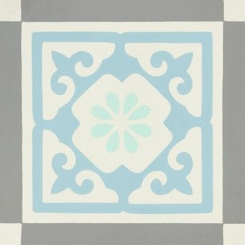 Carreau De Ciment Mur Gris Bleu Blanc Mat L 20 X L 20 Cm Belle Epoque Louise Carreaux De Ciment Mural Carreau Et Mur Gris