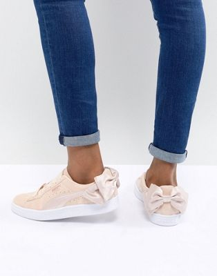Puma Suede Bow Valentines Trainers In Pink | shose in 2019