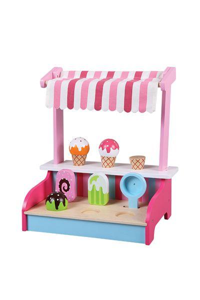 Vendita New Classic Toys / 23401 / Giochi d'imitazione / Cucine e casa delle bambole / Stand Venditore Di Gelati Da 3 Anni