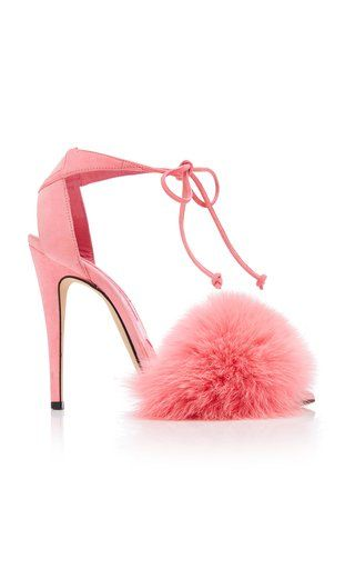 4d41596c9c4 Melly Fur Sandal by Brian Atwood Fall Winter 2018   Accessories in ...