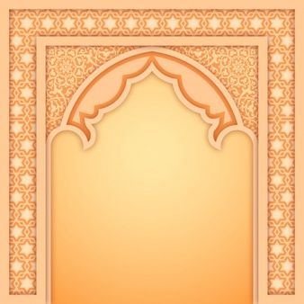 Islamic Arch Design Template In 2020 Design Template Banner Template Design Islamic Design