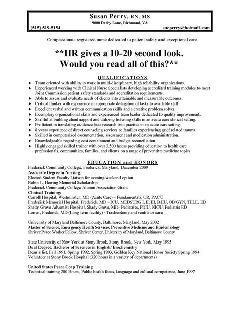 nursing resume prossample and medical resumes nurse quotes - hr resume objectives