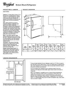 View Dimension Guide PDF   Kitchen WO   Bottom freezer