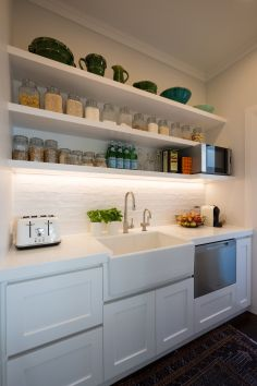 White Hamptons Style Scullery Pantry Kitchen Inspirations Kitchen Renovation Kitchen