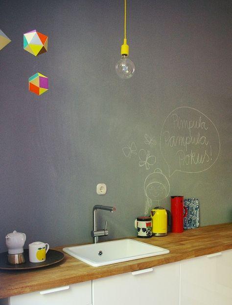 pimpula, pampula, pokus!, Tags Altbau + Mobile + Küche + Tafellack + Holzarbeitsplatte + Muuto E27 + Clara von Zweigbergk + Themis