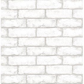 You Ll Love The Grey And White Brick Peel And Stick Wallpaper At Wayfair Great Deals On All Deco Exposed Brick Brick Effect Wallpaper Exposed Brick Wallpaper