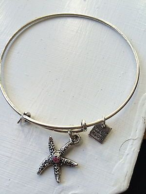 Alex & Ani Starfish Bracelet in Silver - http://designerjewelrygalleria.com/alex-ani/alex-ani-starfish-bracelet-in-silver/