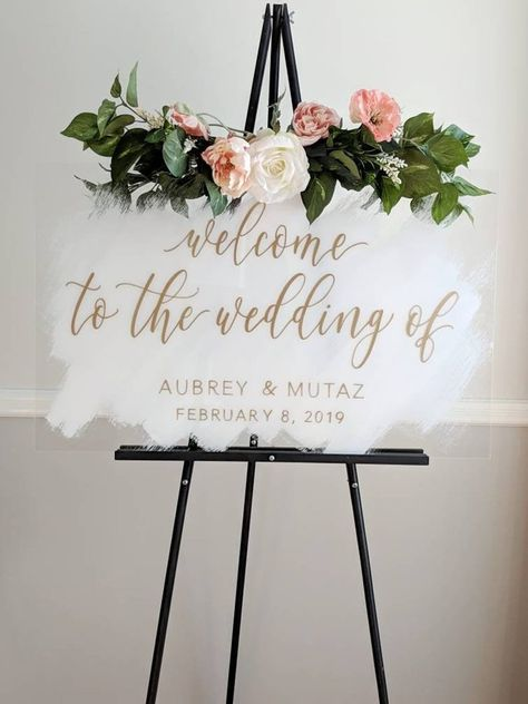 Wedding signs are everywhere — when your guests enter your wedding for the first time, at the wedding favor table, the gift table, on the guest tables. They're all over the place and they can act… Wedding Bride, Wedding Blog, Diy Wedding, Wedding Ceremony, Rustic Wedding, Dream Wedding, Wedding Day, Wedding Rings, Wedding Dresses