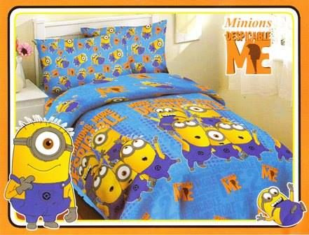 Minions Lenzuola Matrimoniali.Minion Bed 1378238 519890004755086 1302420787 N Bed Cover