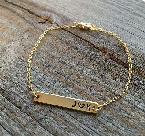 Personalized Bar Bracelet – Gold or Silver Personalisierte Bar Armband – Gold oder Silber