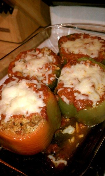 Stuffed Peppers with ground turkey. Making for dinner tmrw! Wish me luck!